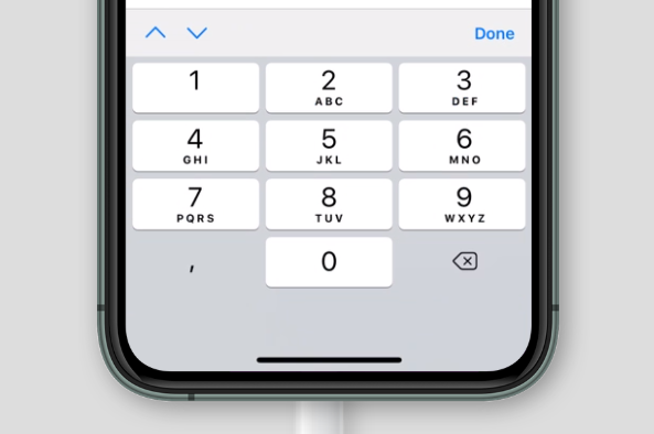 virtual keyboard for inputmode='decimal' on Safari on iOS