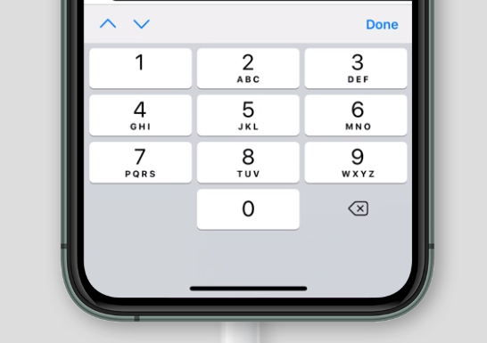 virtual keyboard for inputmode='numeric' on Safari on iOS