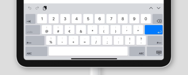 virtual keyboard for inputmode='numeric' on an iPad