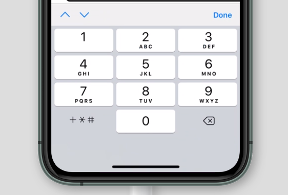 virtual keyboard for inputmode='tel' on Safari on iOS
