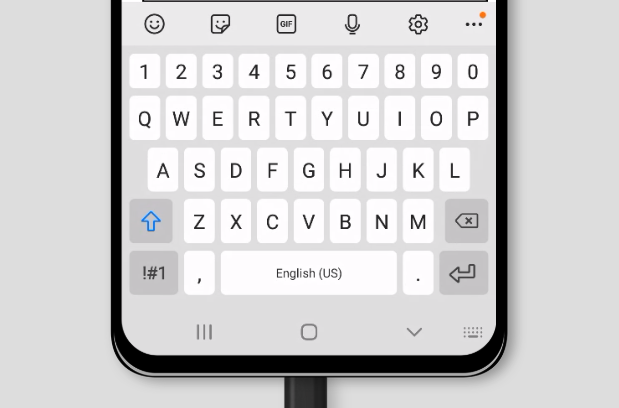 default virtual keyboard on Samsung Internet