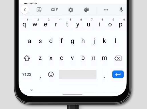 default virtual keyboard on Chrome on Android