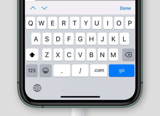 virtual keyboard for inputmode='url' on Safari on iOS